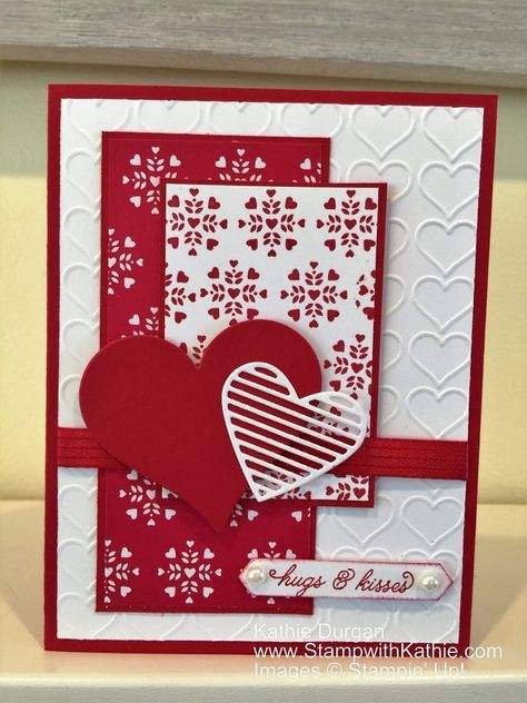 Before I get to my project for today, I want to thank the design team at Hand Stamped Sentiments for choosing my card as one of their top picks. If you missed that card, you can see it here. Than… cards handmade cricut Stampin' Up! Making Greeting Cards, Greeting Cards Handmade, Valentines Day Cards Handmade, Karten Diy, Stamping Up Cards, Creative Cards, Anniversary Cards, Scrapbook Cards, Homemade Cards