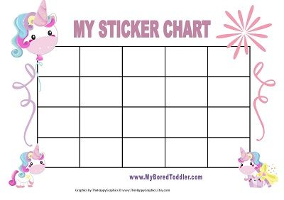 Printable Sticker Chart For Toddlers Unicorn Reward Chart Image 2 Uma Printable Printable Reward Charts Reward Sticker Chart Sticker Chart