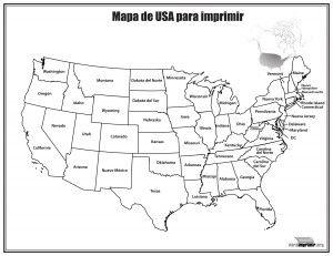 Mapa De Estados Unidos Con Nombres Para Imprimir Mapa De Estados Unidos Estados Y Capitales Mapa De America