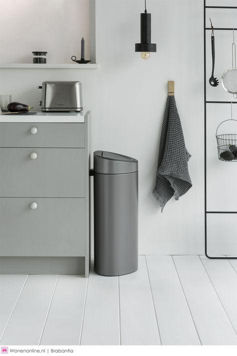 Brabantia Touch Bin 30 Liter Afvalemmer.Pinterest Pinterest