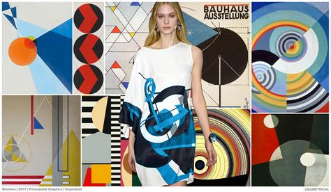 #FashionSnoops #printtrends on #WeConnectFashion. SS17 Women's graphics story: Bauhaus Geometrics.