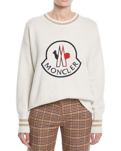 Moncler Logo Embroidered Pullover Sweatshirt | Products in
