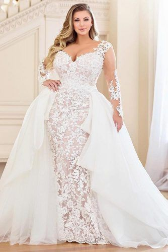 Plus Size Wedding Dresses For The Most Beautiful And Curvy Brides Detachable Train Wedding Dress Plus Wedding Dresses Plus Size Bridal Dresses