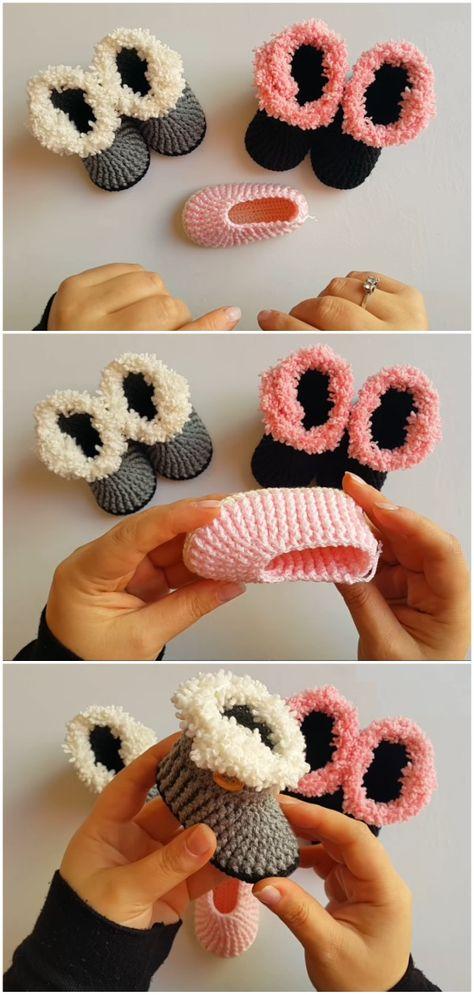 Crochet Baby Slippers/Baby Booties
