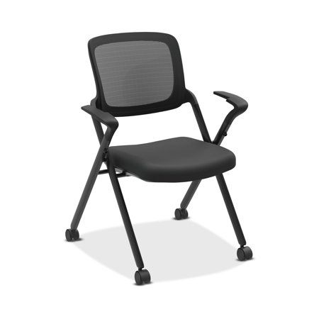 Hon Assemble Mesh Back Nesting Chair Stacking Chairs Pack Of 2