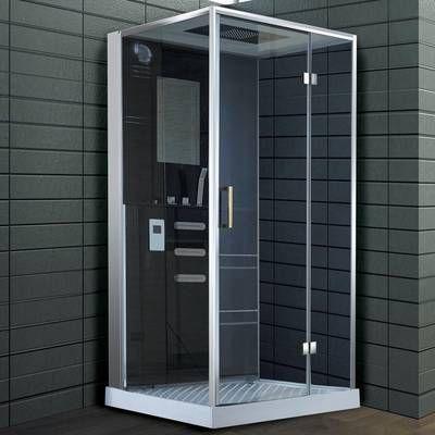 French Corner 34 5 H X 72 W Framed Square Sliding Shower Enclosure Shower Enclosure Steam Showers Shower Stall