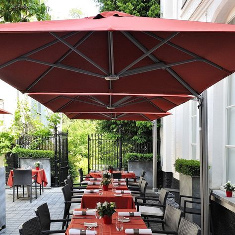 Square Commercial Umbrellas P6 Series Shelter Outdoor Living