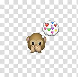 Emojis Editados Brown Monkey With Heart Space Balloon Transparent Background Png Clipart Free Clip Art Clip Art Transparent Background