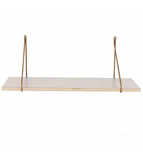 Housedoctor Wandregal Apart aus Furnier/Laminat, grau, 70x25,5x1,5cm - lefliving.de