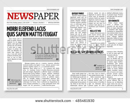 tabloid paper design Vintage newspaper journal vector template - newspaper
