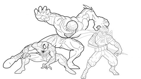 Free Printable Venom Coloring Pages For Kids Spiderman Coloring