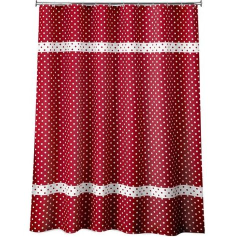 Dots Fabric Shower Curtain Red Allure Home Creations Http Www