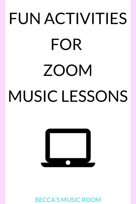 Fun Zoom Music Lessons for Distance Learning - Becca's Music Room Online Music Lessons, Elementary Music Lessons, Piano Lessons, General Music Classroom, Musica Online, Teach Dance, Music Lesson Plans, Online Classroom, Piano Teaching