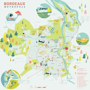 Carte Illustree Bordeaux Metropole In 2020 Bordeaux France
