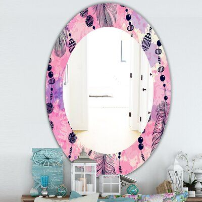 East Urban Home Feathers Eclectic Frameless Accent Mirror Size 31 5 H X 23 7 W Contemporary Wall Mirrors Modern Full Length Mirrors Cool Mirrors