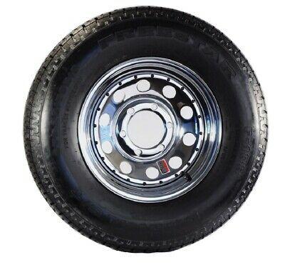 Radial Trailer Tire And Rim St225 75r15 15x6 6 5 5 Modular Wheel Chrome In 2020 Trailer Tires Chrome Wheels Tire