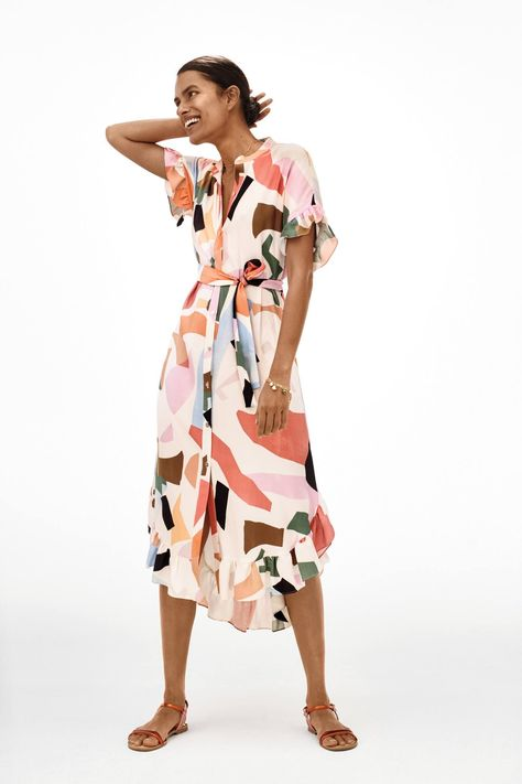 Corey Lynn Calter Soho Shirtdress at Anthropologie [affiliate] Stylish, versatile, and oh-so-comfortable, this shirtdress - with its abstract painterly patterns - is the definition of a summer staple.