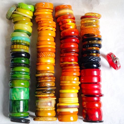 Bakelite bangle collection