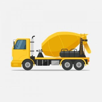 Concrete Mixer Truck Special Machines For The Construction Work Vector Illustration Machinery Bulldozer Construction Png And Vector With Transparent Backgrou Mixer Truck Concrete Mixers Concrete Truck