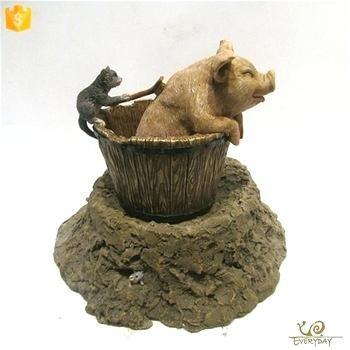 Charming Bear Water Fountain Illustrations Luxury Bear Water Fountain For Mini Water Fountain Statues Tabletop Water Fountain Decoration Battery Operated Indoo
