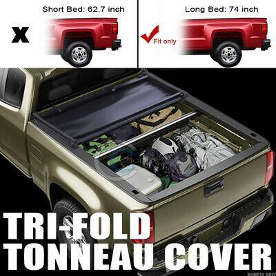 Details About Tri Fold Soft Tonneau Cover Fits 15 19 Chevy