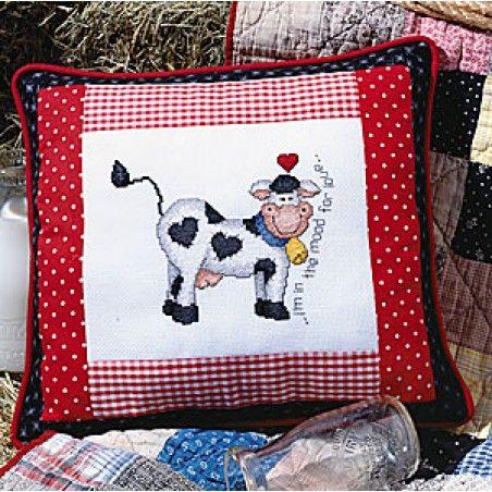 I'm In The Mood Pillow Cross Stitch ePattern