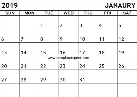 January 2019 Calendar India Calendar Calendar Printables