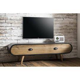 Meuble Tv Au Style Industriel Klaus En Chene Vintage 1 Tiroir Tv Furniture Indian Living Rooms Lcd Wall Design