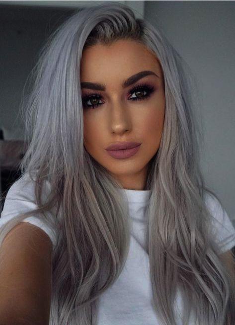 Hairstyles Long So Light Hair Color Ideas For Tan Skin Case Hair Color Ideas For Case Color Hair Hairstyles In 2020 Light Hair Color Silver Hair Color Light Hair