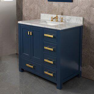 Rosecliff Heights Crisler 36 Single Bathroom Vanity Set Wayfair Single Bathroom Vanity Bathroom Vanity Vanity Set