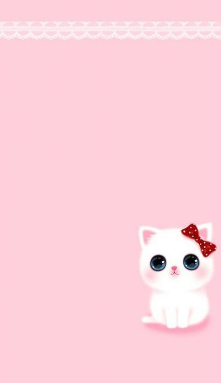 Wall Paper Iphone Pastel Pink Polka Dots 62 Ideas Cat Phone Wallpaper Wallpaper Iphone Cute Cartoon Wallpaper