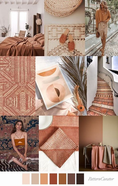 TREND | PATTERN CURATOR - BAKED EARTH . SS 2020 (FASHION VIGNETTE)