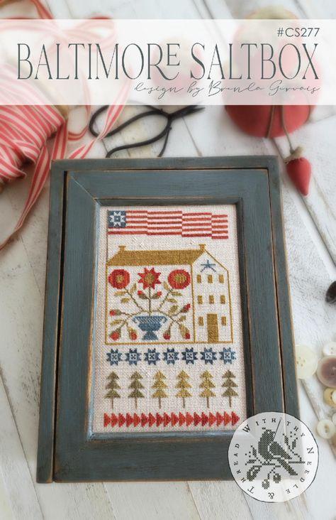 Stars Stripes Ornaments Patriotic Prairie Schooler Cross Stitch Pattern 155
