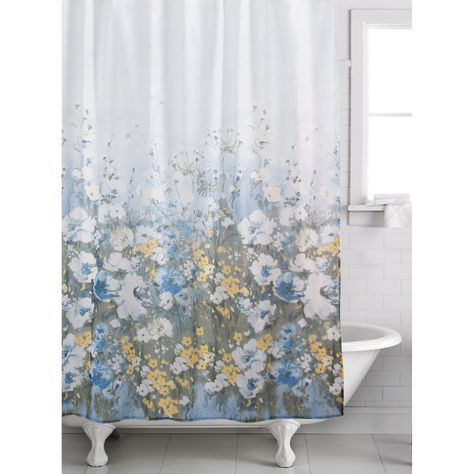 Madison Park Solandis 72 X 72 Cotton Printed Shower Curtain