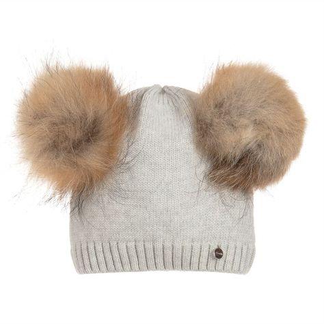 brand Wool Double Pom-Pom Hat at Childrensalon.com 0971bb1cdd57