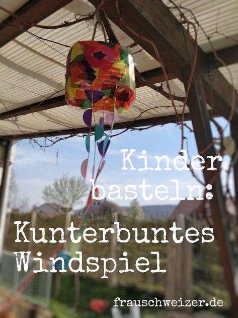 Zuckersüsse DIY- Idee für Kinder.  Bastel aus Resten ein tolles Windspiel für den Garten, Balkon oder Terrasse. Und so einfach gehts...  #windlicht #windspiel #mitkindernbasteln #kinderbasteln #selbermachen #diy #garten #dekoration #deko #frühling