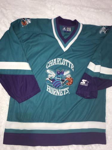 wholesale dealer d67bc 11252 TRUE Vintage 90s Charlotte Hornets RARE Throwback NBA Hockey ...