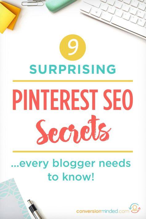 9 Pinterest SEO Secrets Every Blogger Should Know
