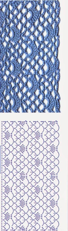 Mejores 29 imágenes de Crochet-puntos en Pinterest | Patrones de ...