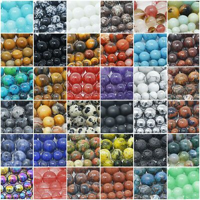 Wholesale Lot Natural Gemstone Round Spacer Loose Beads 4mm 6mm 8mm 10mm 12mm Natural Gemstones Gemstone Chip Beads Gemstone Beads