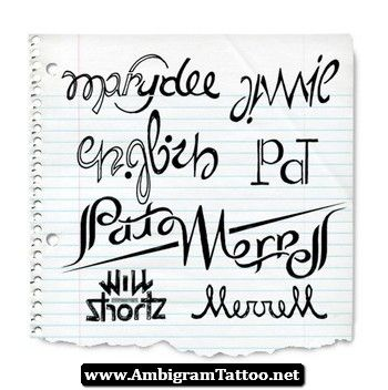Ambigram Tattoo Generator