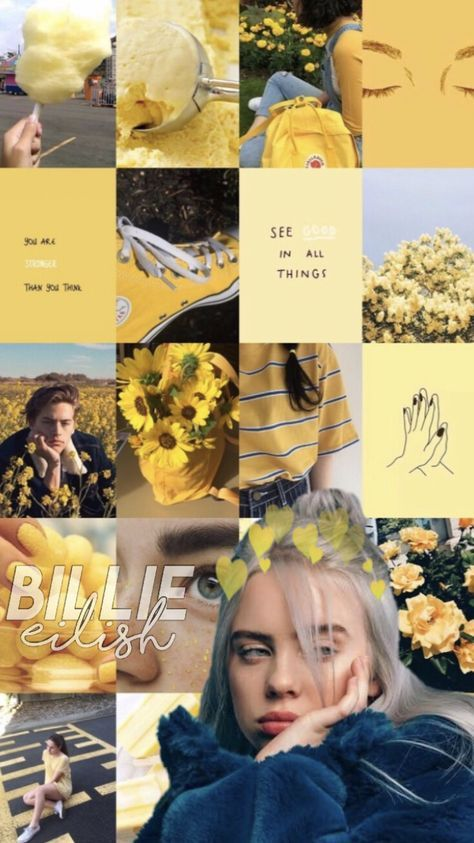 47 Ideas Yellow Aesthetic Wallpaper Billie Eilish In 2020 Billie Billie Eilish Yellow Aesthetic