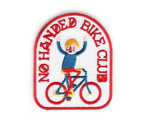 No Handed Bike Club Iron On Patch by Mokuyobi Threads $5 via #etsy #bike #patch