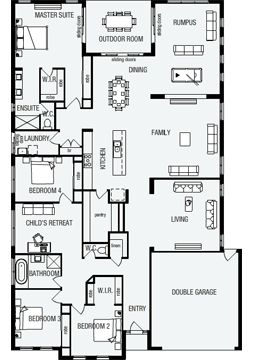 Grandview New Home Floor Plans Interactive House Plans Metricon Homes Queensland Floor Plans House Plans Dream House Plans