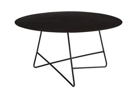 Magnolia Home Traverse Carbon Round Cocktail Table By Joanna