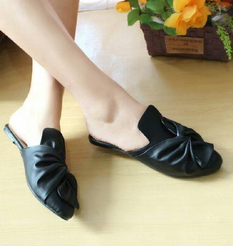 Sandal Selop Pita 01 Hitam Sepatu Wanita Sepatu Sandal