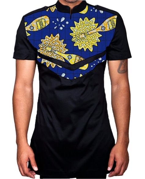 African print men slim fit shirt by essycouture on Etsy
