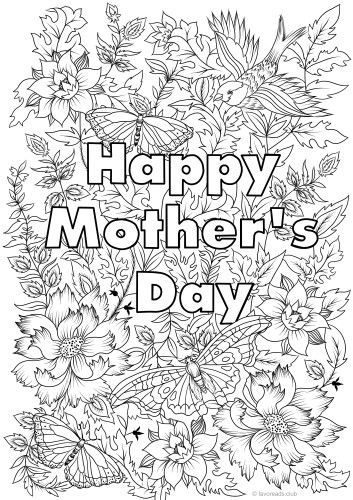 Happy Mother S Day Favoreads Coloring Club In 2020 Mothers Day Coloring Pages Mothers Day Coloring Sheets Mother S Day Colors