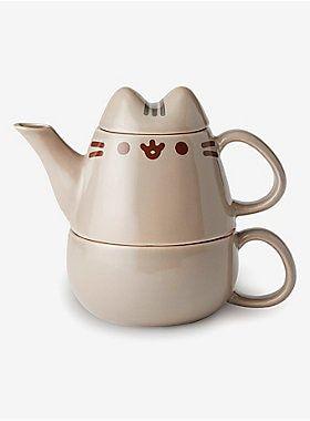 Pusheen Stackable Teapot Cup Set Tea Pots Pusheen Cupping Set