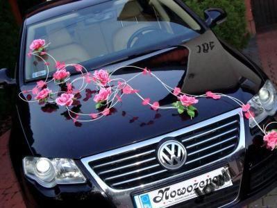 2 Dekoracja Samochodu Na Samochod Slubny Slub Auto Wedding Car Wedding